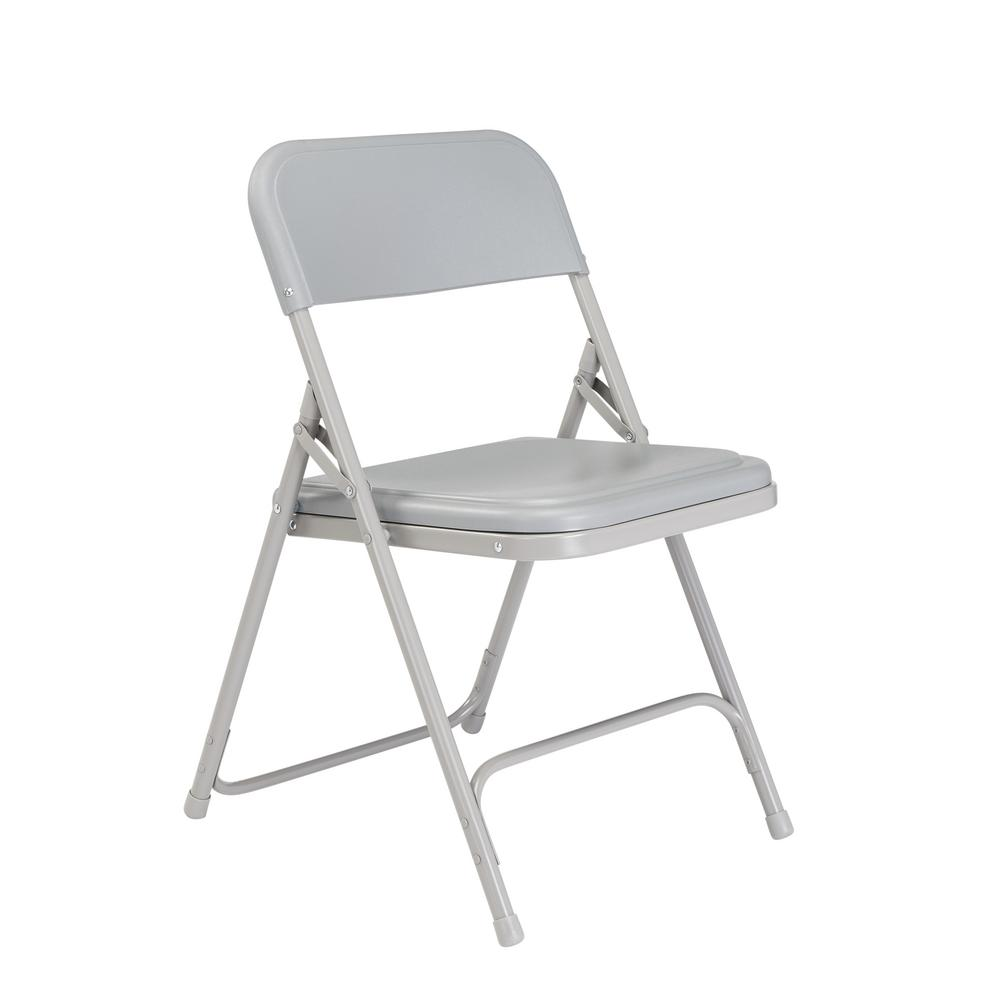 White Stackable Chairs National Public Seating Grey Plastic Seat Stackable Outdoor Safe Folding Chair Set Of 4
