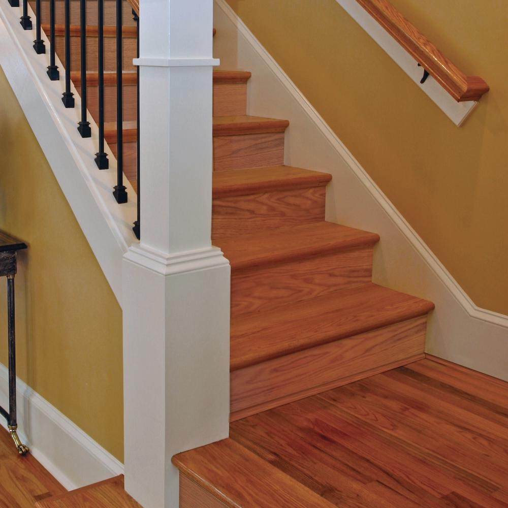 Stair Parts 5 16 In X 7 5 In X 48 In Red Oak And Primed   Red Oak Stair Risers   Stair Tread   Stair Parts   Flooring   Stain   Modern Retro