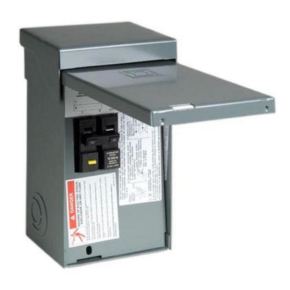 hight resolution of square d homeline 50 amp 2 space 4 circuit spa panel main lug load