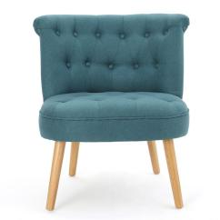 Dark Teal Accent Chair Retro Oz Design Noble House Cicely Tufted Fabric 299775 The
