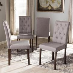 Set Of 4 Dining Chairs Office Chair York Baxton Studio Gardner Gray Fabric Upholstered