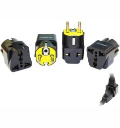 krieger universal to german 2 in 1 plug adapter 4 pack kd grm4 the home depot [ 1000 x 1000 Pixel ]