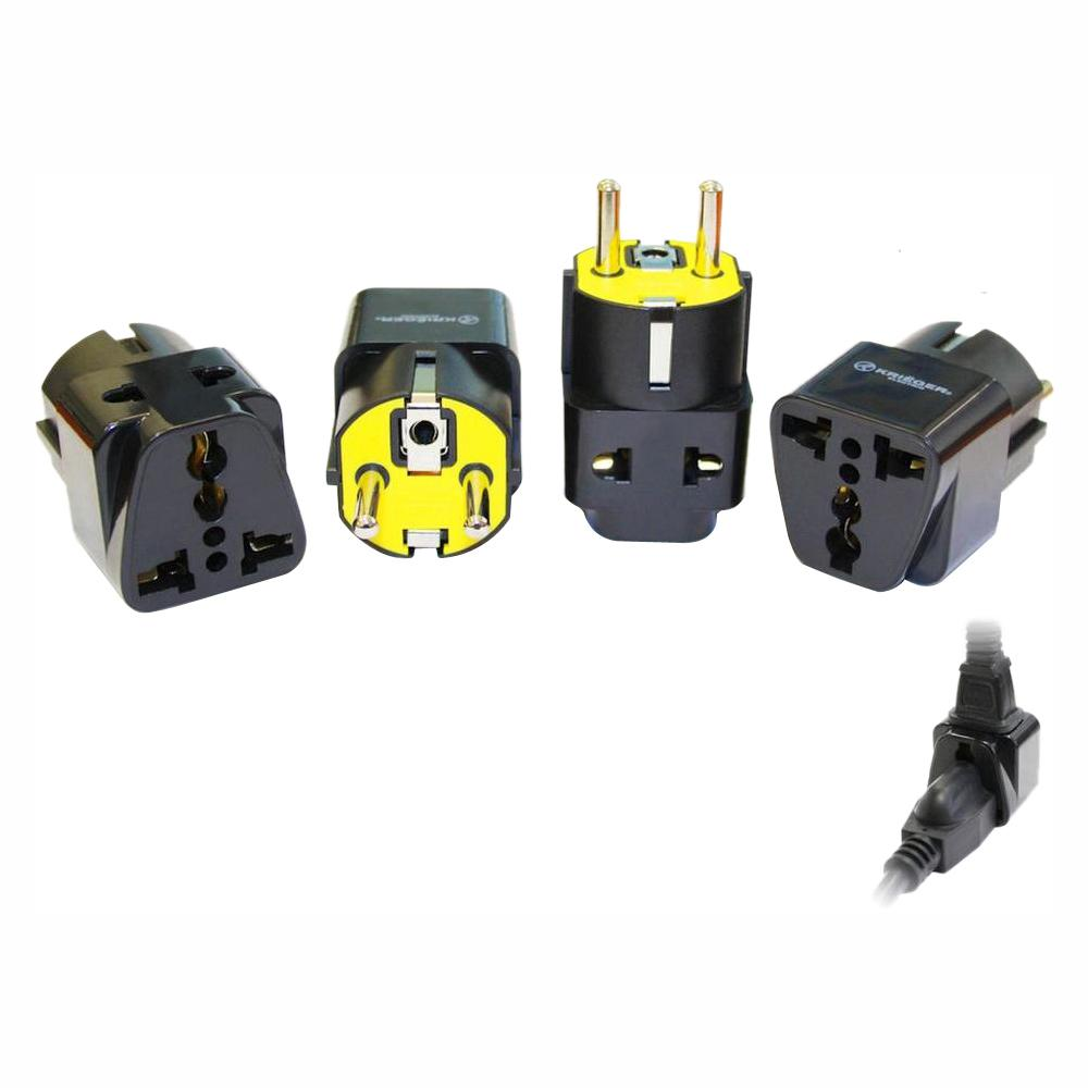 hight resolution of krieger universal to german 2 in 1 plug adapter 4 pack kd grm4 the home depot