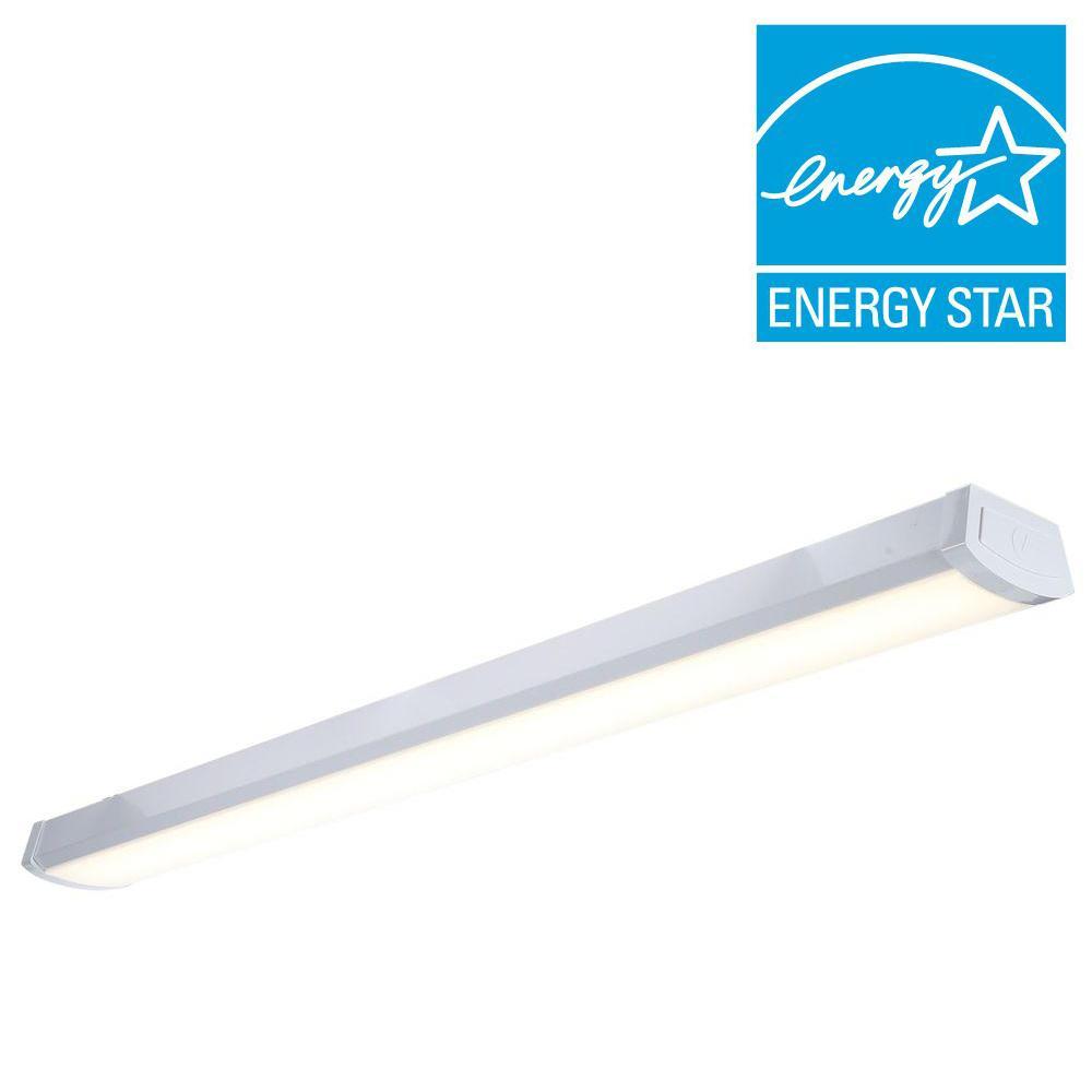 hight resolution of lithonia lighting fmlwl 48 840 4 ft white led flushmount wraparound light