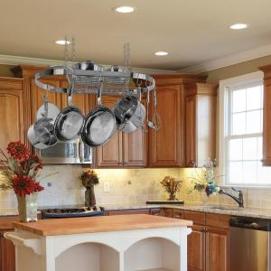 kitchen pot rack seating ideas range kleen oval hanging ceiling stainless steel cw6001 internet 204168495