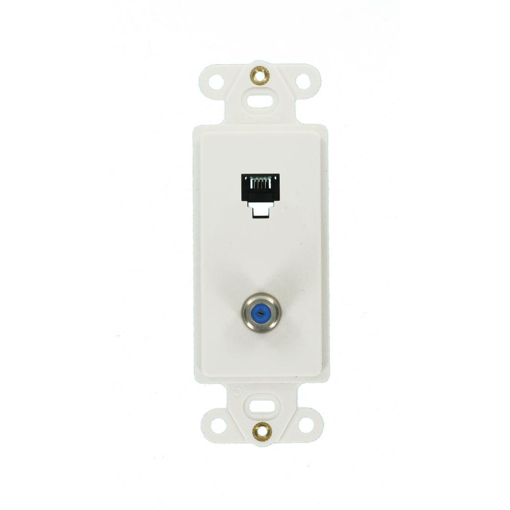 hight resolution of decora phone and tv jack