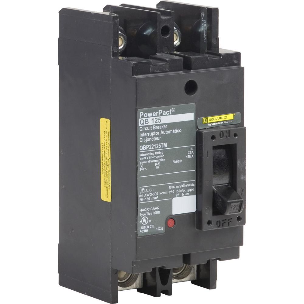 Home Square D 125 Amp 3 Pole Circuit Breaker Kal36125
