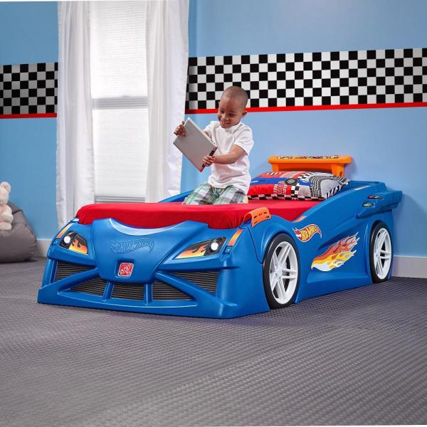 Step2 Hot Wheels Twin Plastic Kids Bed-854600 - Home Depot