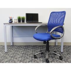 Mesh Task Chair Camping Reviews Boss Blue Back Vibrant B6416 Be The Home Depot