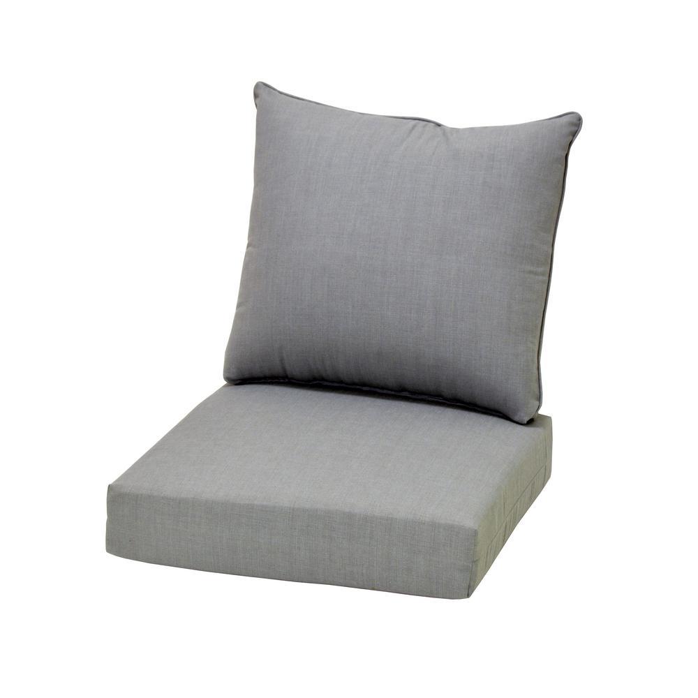 pewter chair andy warhol electric hampton bay cushionguard deep seating outdoor lounge cushion