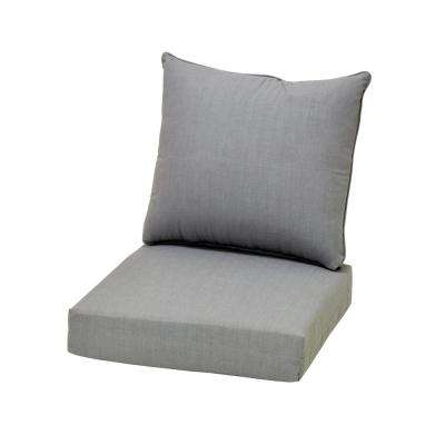 lounge chair cushions cheap red living room outdoor the home depot cushionguard pewter deep seating cushion