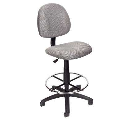 modern drafting chair leather parson chairs gray office home grey armless stool