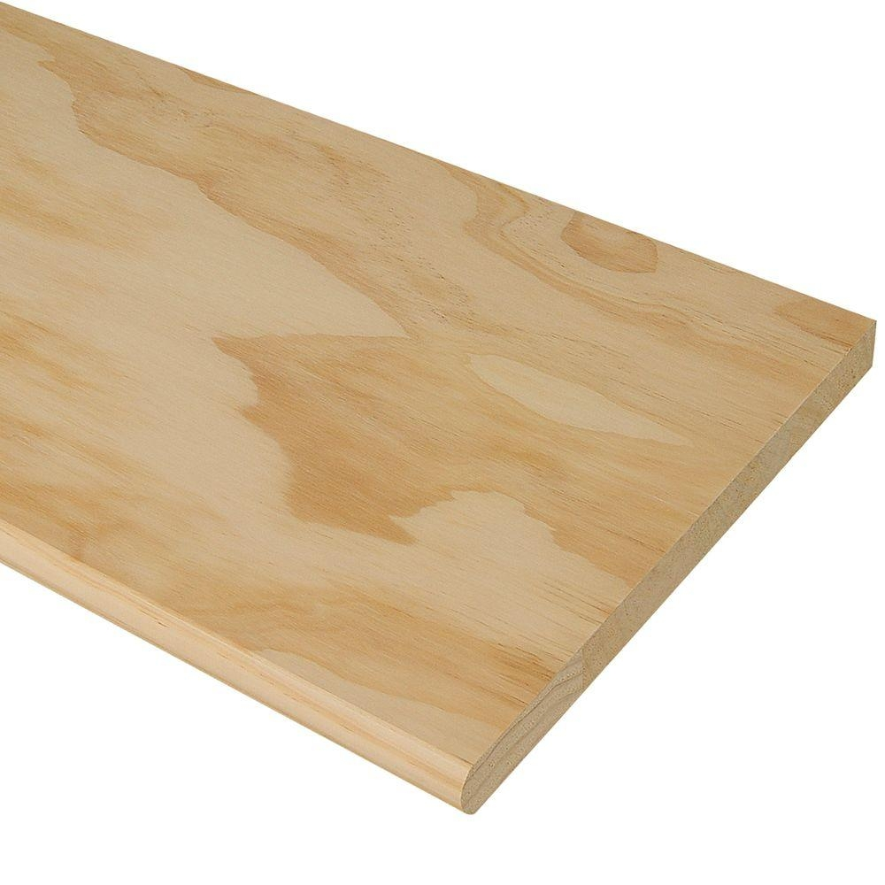Stair Treads Risers Stair Parts The Home Depot   Hardwood Steps And Risers   Brown Stair   Carpet Tread   Bullnose   Maple   Dark Wood