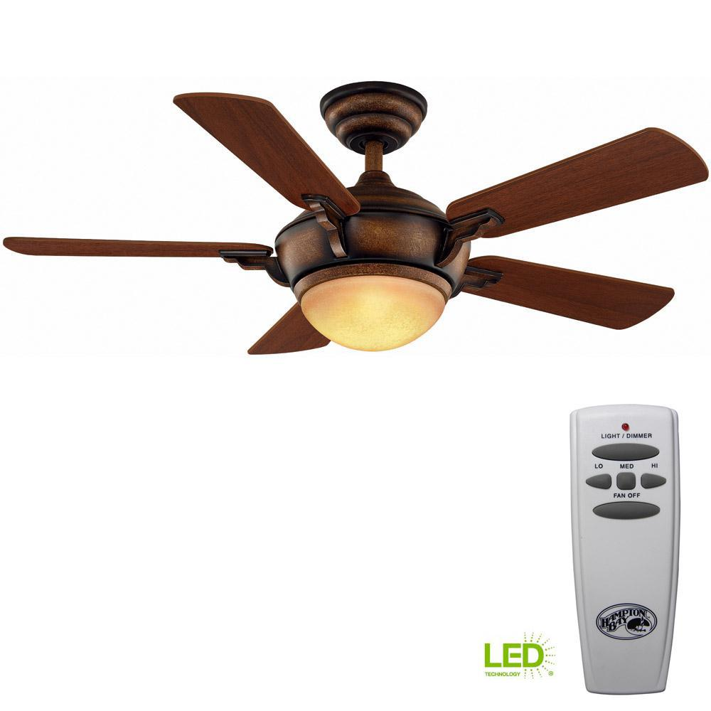 medium resolution of hampton bay midili 44 in led indoor gilded espresso ceiling fan with light kit and