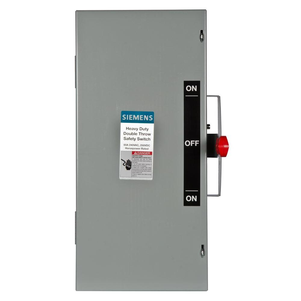 hight resolution of siemens double throw 60 amp 240 volt 3 pole indoor non fusible safety