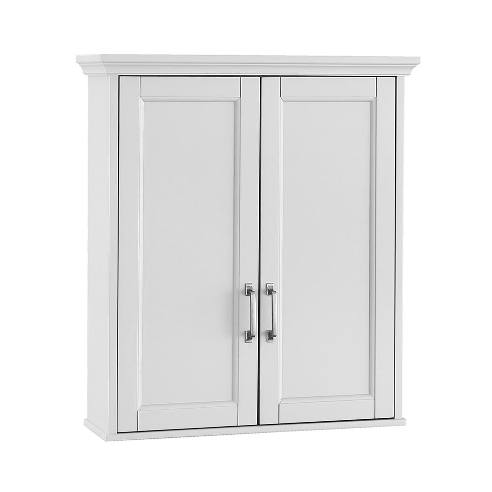 Wall Cabinets For Bathrooms Home Decorators Collection Ashburn 23 1 2 In W X 27 In H X 8 In D Bathroom Storage Wall Cabinet In White