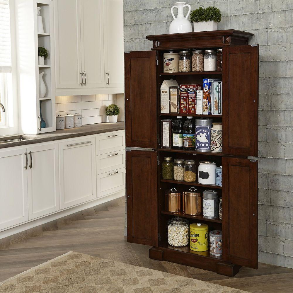 furniture kitchen pantry glass backsplash home styles cherry food 5005 69 the depot
