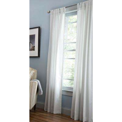 pictures curtains living room paint color with hardwood floors drapes window treatments the home depot classic cotton light filtering panel in pure white 50 w x 84