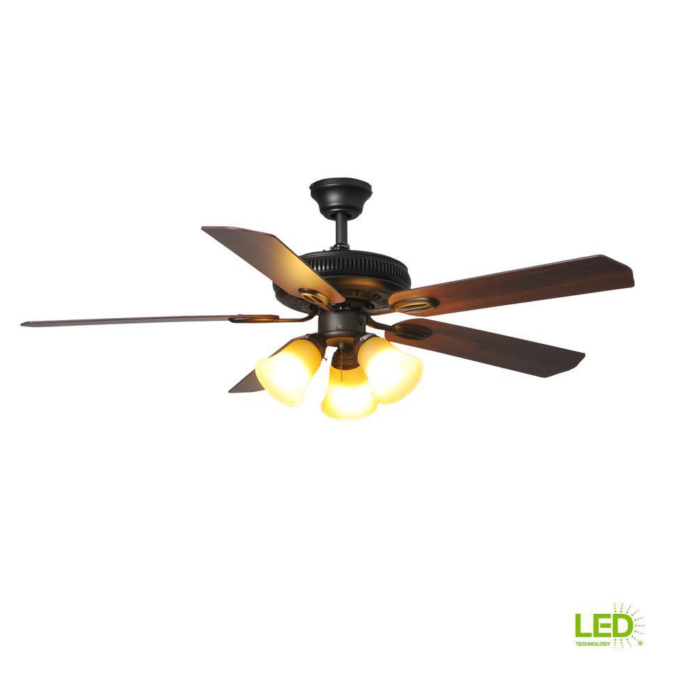 medium resolution of hampton bay glendale 52 in led indoor oil rubbed bronze ceiling fanhampton bay glendale 52 in