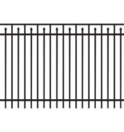 brilliance heavy duty 5 ft h x 8 ft w black aluminum [ 1000 x 1000 Pixel ]