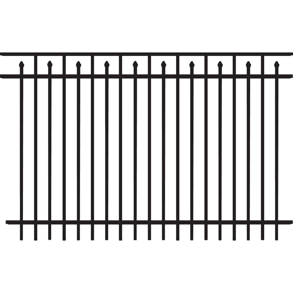 medium resolution of brilliance heavy duty 5 ft h x 8 ft w black aluminum