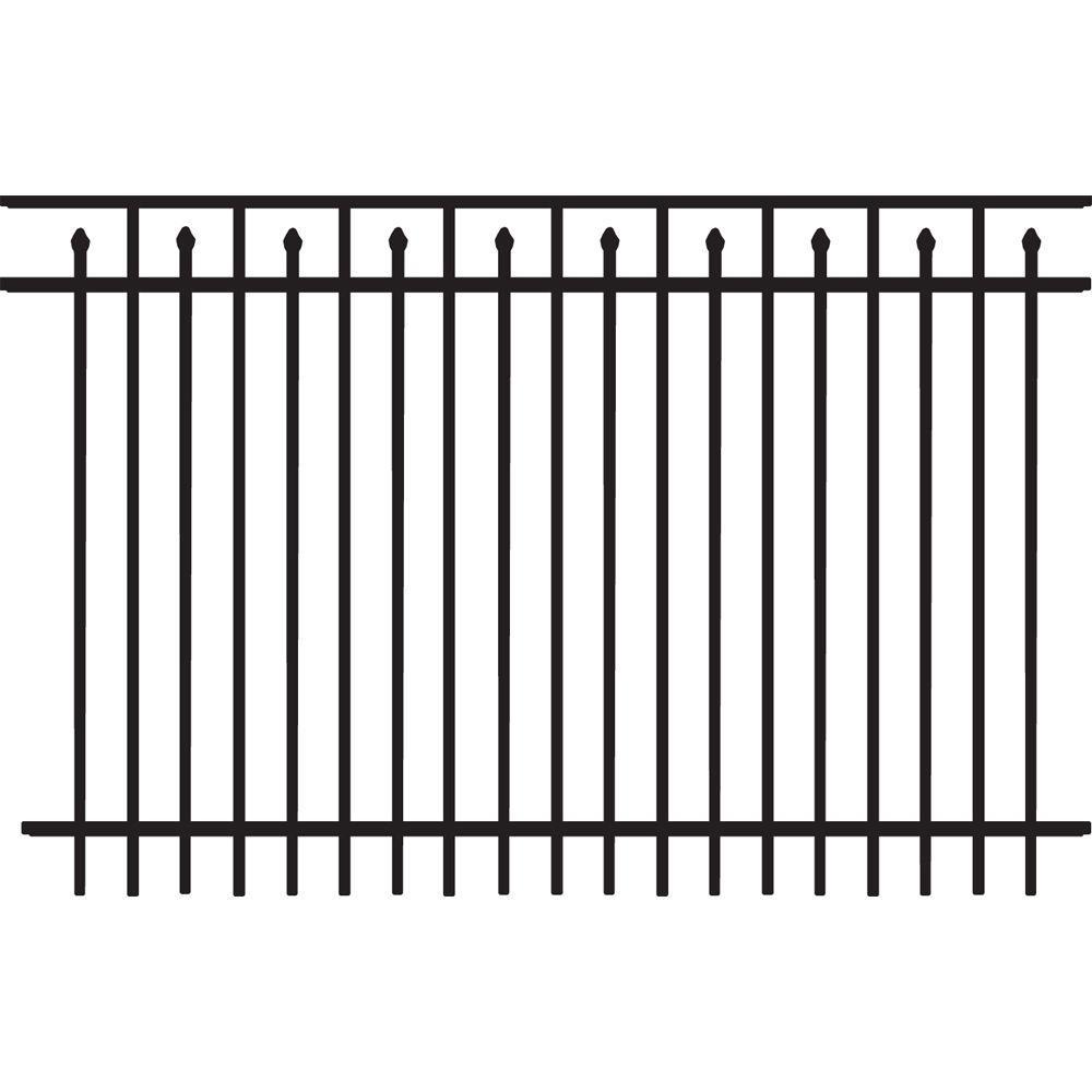 hight resolution of brilliance heavy duty 5 ft h x 8 ft w black aluminum