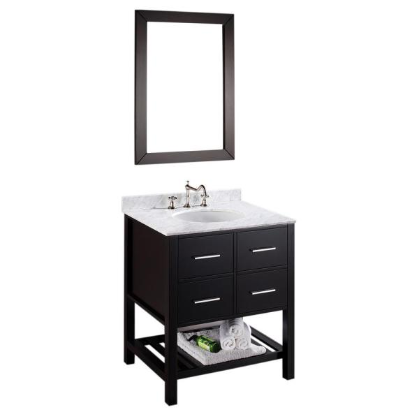 Ove Decors Trent 30 In. Vanity In Black Antique With