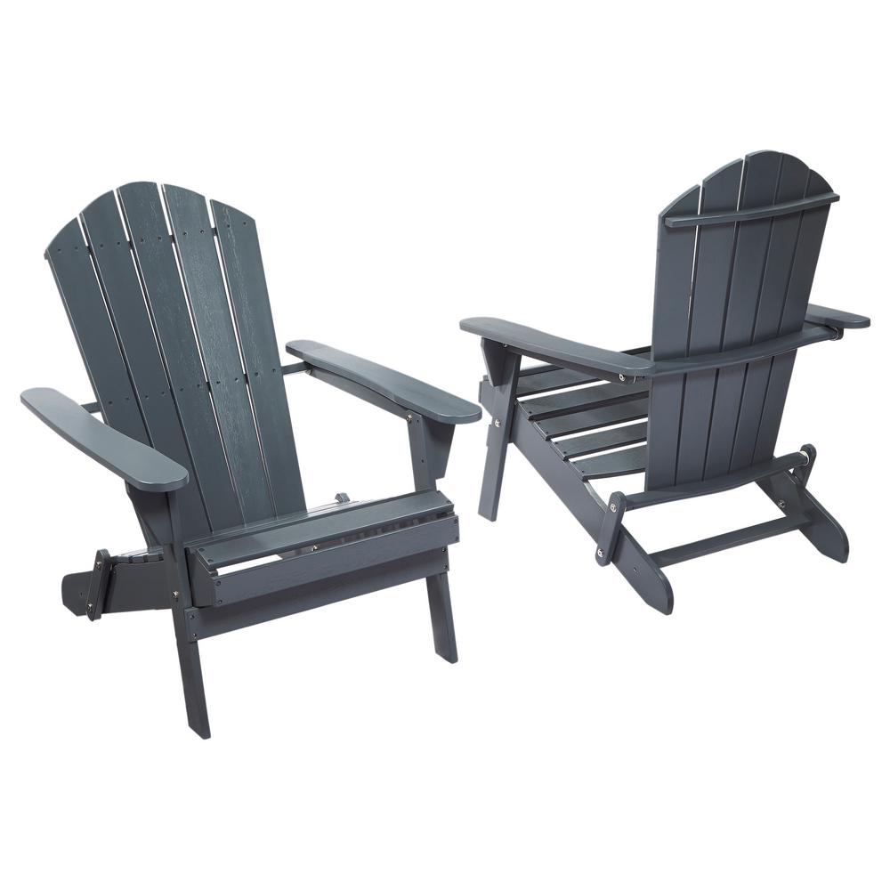 home depot chairs plastic mid century modern lounge chair and ottoman hampton bay graphite folding outdoor adirondack 2 pack 1