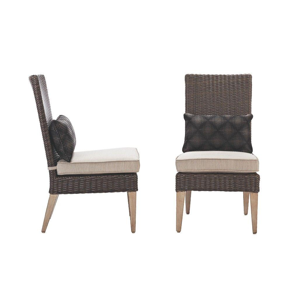 parson chairs mars chair sale home decorators collection naples brown all weather wicker outdoor dining with putty cushions