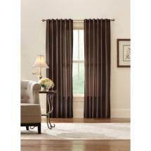 Home Decorators Collection Sheer Brown Faux Silk Lined