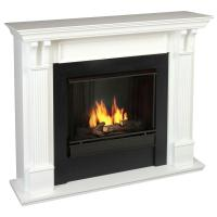 Real Flame Ashley 48 in. Gel Fuel Fireplace in White-7100 ...