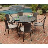 Home Styles Stone Harbor 7-Piece Round Patio Dining Set ...
