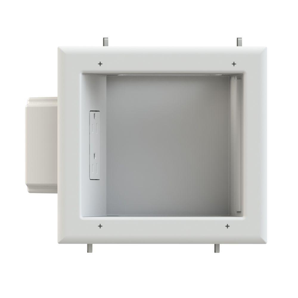 hight resolution of tv multimedia recessed box