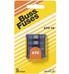 atc series 15 amp silver auto fuses 5 pack  [ 1000 x 1000 Pixel ]
