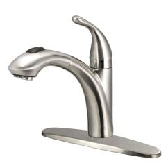 Pull Out Kitchen Faucets Tables Big Lots Keelia Single Handle Sprayer Faucet In Brushed Nickel
