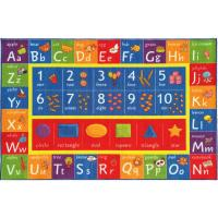 KC CUBS Multi-Color Kids and Children Bedroom ABC Alphabet ...