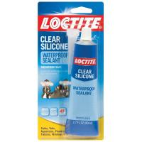 Loctite 2.7 fl. oz. Clear Waterproof Silicone Adhesive (6 ...