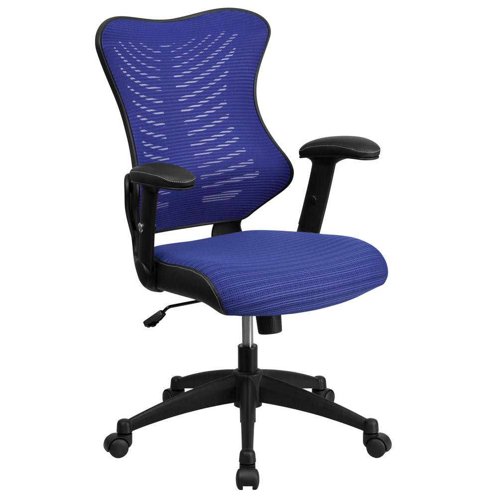 Flash Furniture High Back Blue Designer Mesh Executive