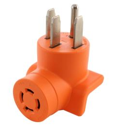 range rv generator outlet adapter 4 prong 14 50p plug to 4 prong 20 amp locking l14 20r adapter [ 1000 x 1000 Pixel ]