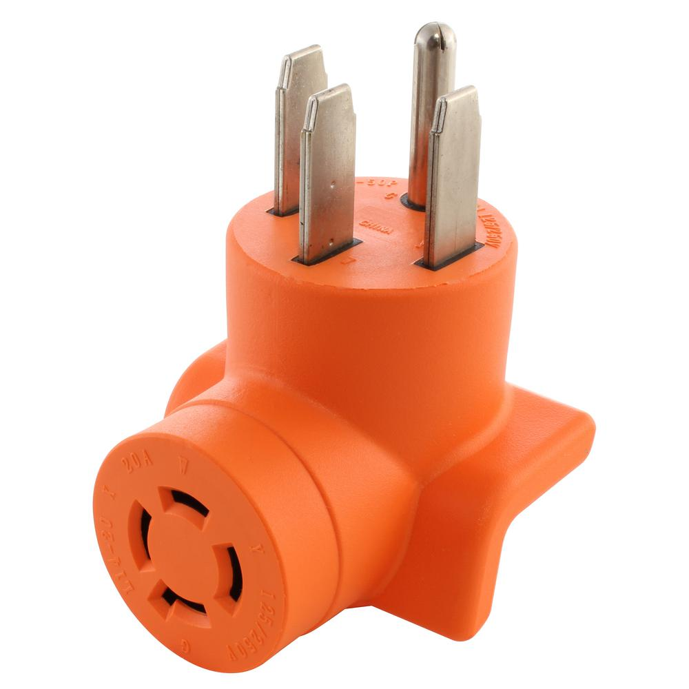 medium resolution of range rv generator outlet adapter 4 prong 14 50p plug to 4 prong 20 amp locking l14 20r adapter