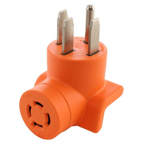 small resolution of range rv generator outlet adapter 4 prong 14 50p plug to 4 prong 20 amp locking l14 20r adapter