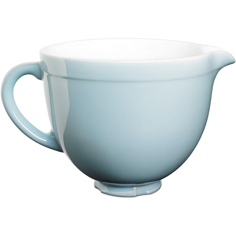 kitchen aid bowls unique decor kitchenaid 5 qt tilt head ceramic bowl in glacier blue ksmcb5gb