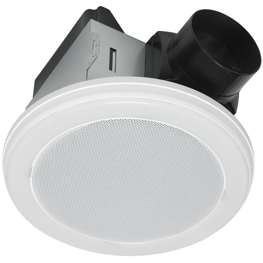Home Netwerks Decorative White 70 CFM Bluetooth Stereo