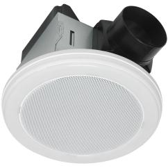Bathroom Fan Wiring Diagram Volvo Penta Home Netwerks Decorative White 70 Cfm Bluetooth Stereo Speaker Exhaust With Led Light