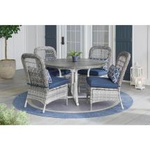 Hampton Bay Beacon Park 5-piece Gray Wicker Outdoor Dining