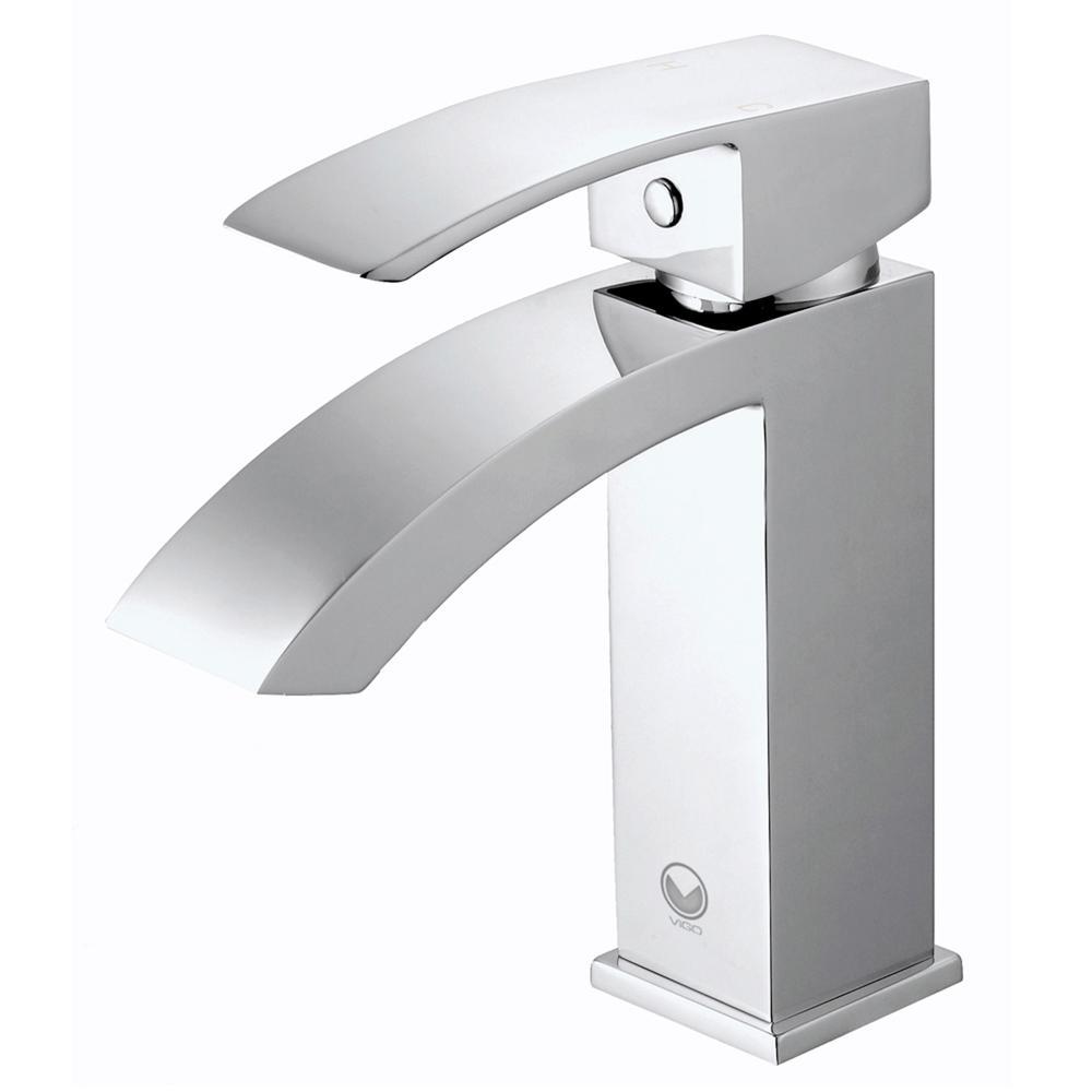 VIGO Single Hole SingleHandle Bathroom Faucet in Chrome