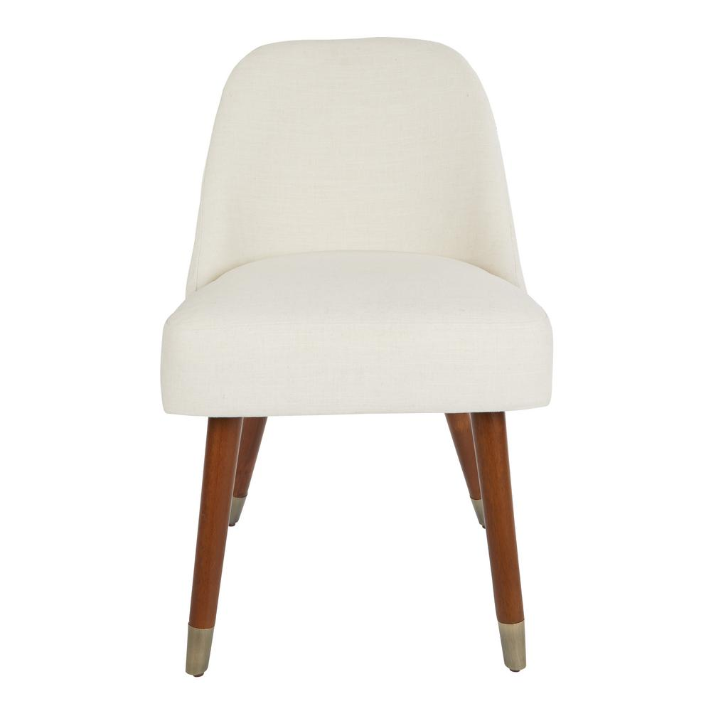 ave six chair revolving company in india jenna dining linen with coffeeed legs and antique brass foot caps 2 per catron