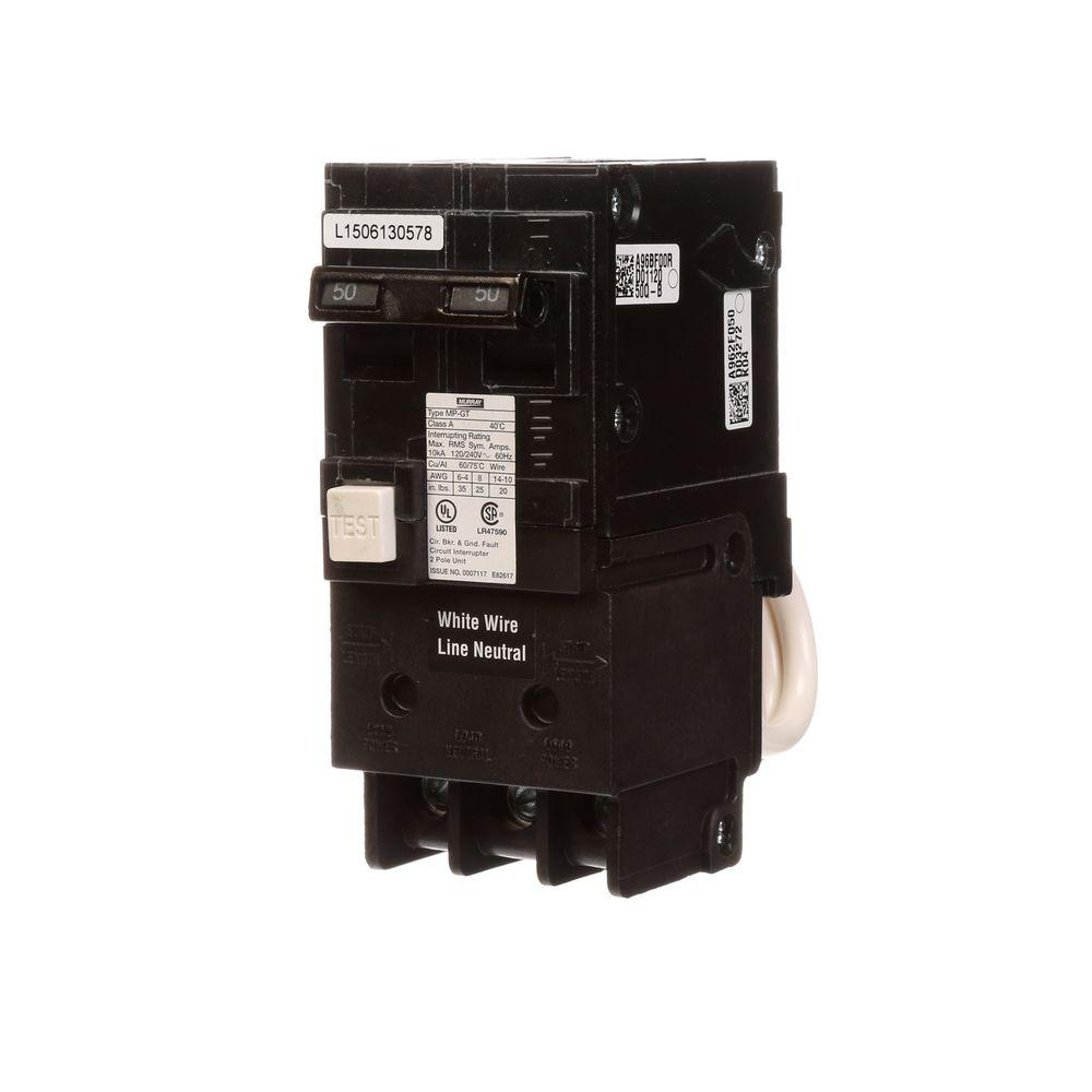 hight resolution of murray 50 amp double pole type mp gt2 gfci circuit breaker