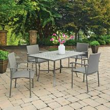 Home Styles Umbria 5-piece Concrete Outdoor Dining Set