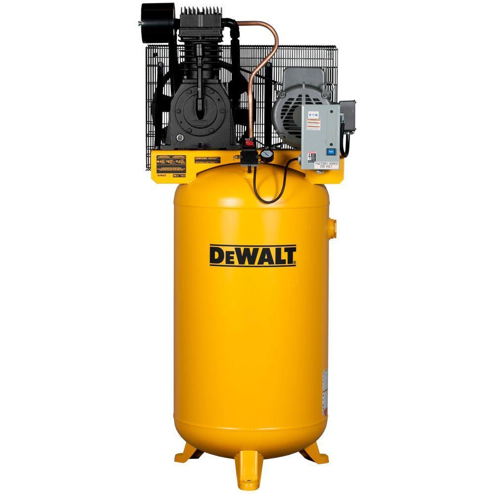 medium resolution of dewalt 80 gal 7 5 hp 175 psi 2 stage stationary electric air compressor